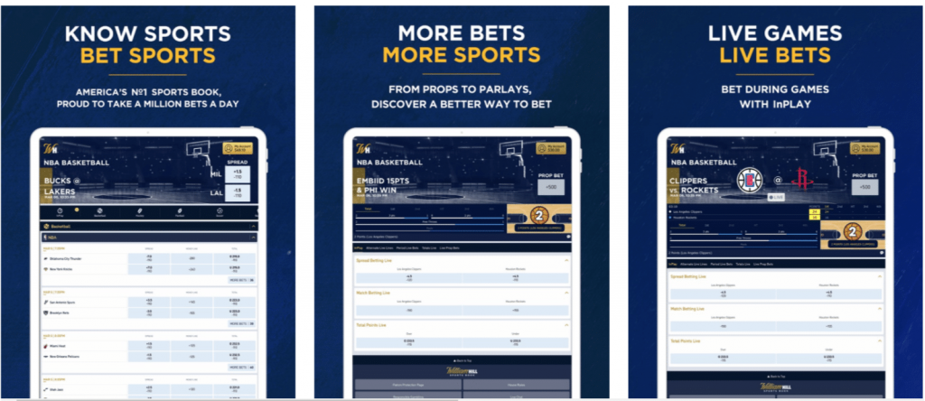 Mobile betting at William Hill